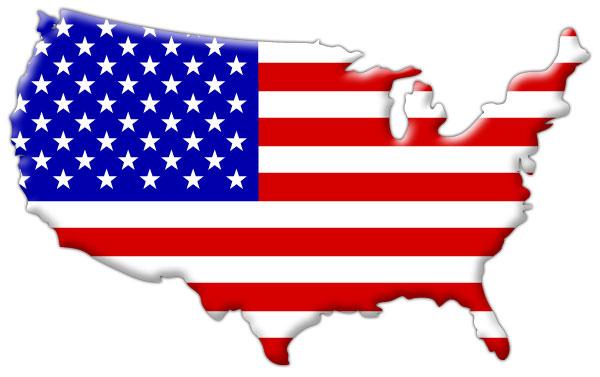 Usa-flag-inside-map